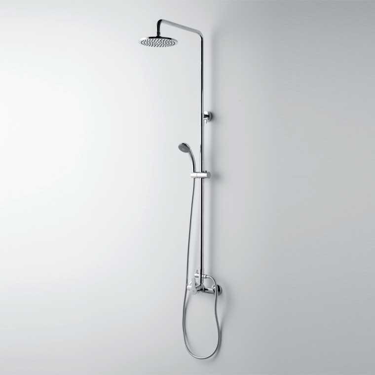 Equipo de ducha cromo monomando con accesorios de ducha for Accesorios de ducha