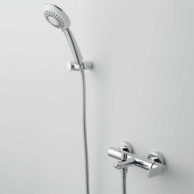 Grifo de ba o monomando con accesorios de ducha beret 14 mr for Accesorios de ducha