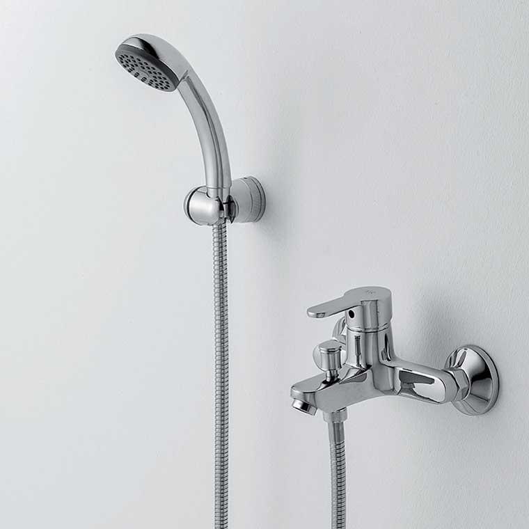 Grifo de ba o monomando con accesorios de ducha beret 17 mr for Accesorios de ducha