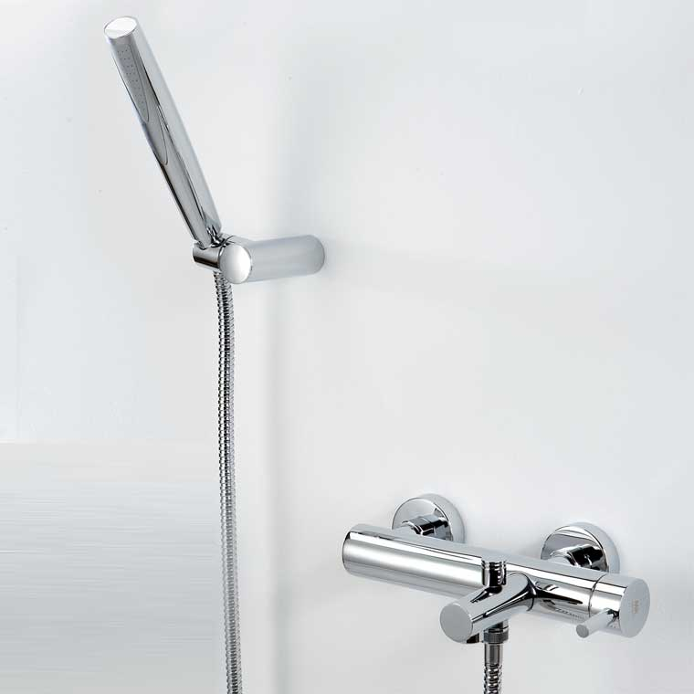 Grifo de ba o monomando con accesorios ducha delta 06 mr for Accesorios para ducha