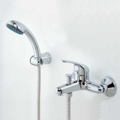 Grifo de Baño Monomando con Accesorios de Ducha Ecoaspe 11 MR,Cromo