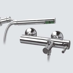 Grifo de Baño, Monomando con Accesorios de ducha Roda MR, Cromo