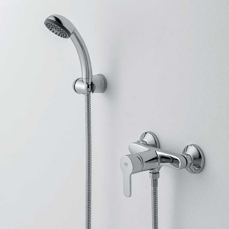 Grifo de ducha monomando con accesorios de ducha baza 15 mr for Grifo monomando