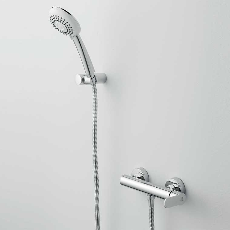 Grifo de ducha monomando con accesorios de ducha beret 14 mr for Accesorios para ducha