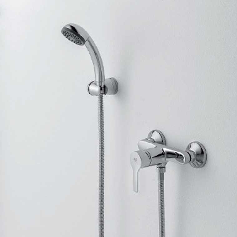 Grifo de ducha monomando con accesorios de ducha beret 17 mr - Accesorios ducha ...