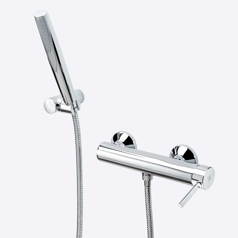Grifo de ducha monomando con accesorios de ducha delta 13 mr for Accesorios para ducha