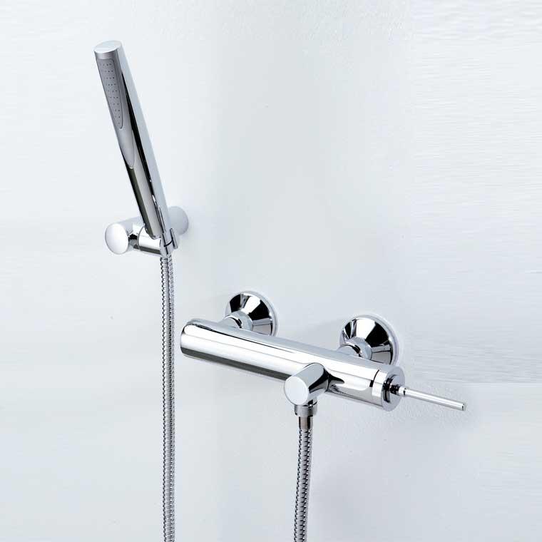 Grifo de ducha monomando con accesorios de ducha orba for Accesorios para ducha