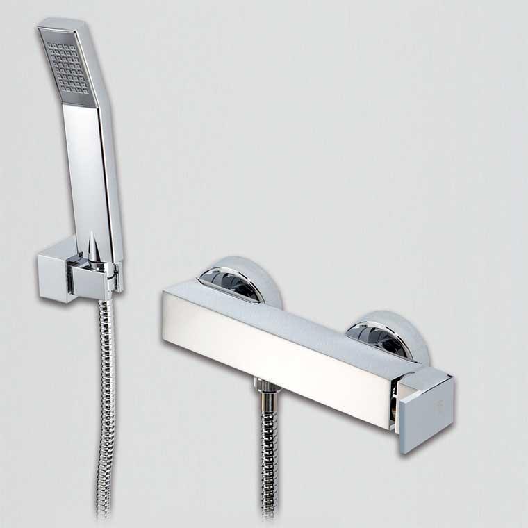 grifo de ducha monomando con accesorios de ducha petra mr