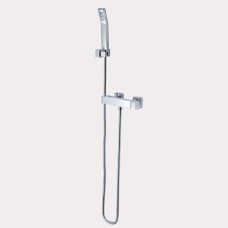 Grifo de ducha monomando con accesorios de ducha petra - Grifo monomando ducha ...