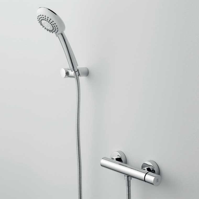 Grifo de ducha monomando con accesorios de ducha serpi 14 mr for Grifo monomando