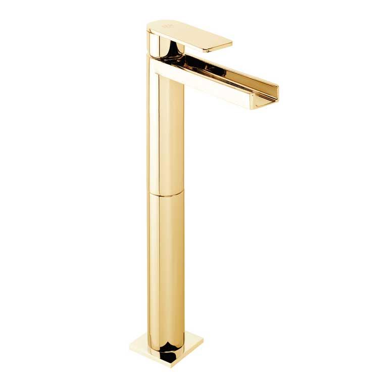 Grifo de lavabo alto monomando cascada libre aran marca for Grifo alto lavabo