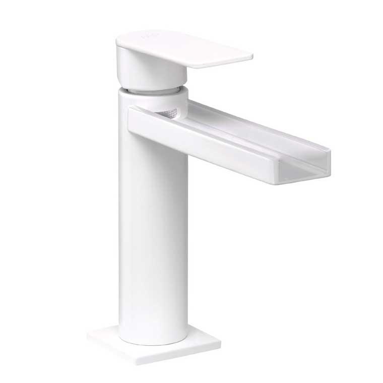 Grifo de lavabo monomando aran cascada libre mr blanco - Grifo lavabo cascada ...