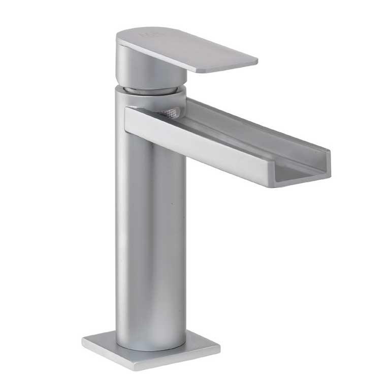 Grifo de lavabo monomando aran cascada libre mr cromo for Grifo lavabo cascada