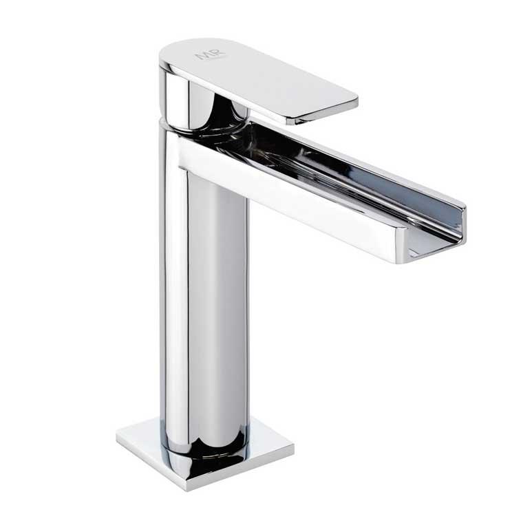 Grifo de lavabo monomando aran cascada libre mr for Grifo en cascada