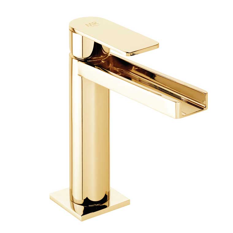 Grifo de lavabo monomando aran cascada libre mr oro - Grifo lavabo cascada ...
