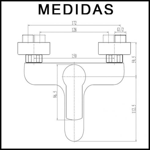grifo-monomando-de-bañera-sioux-L152404-medidas